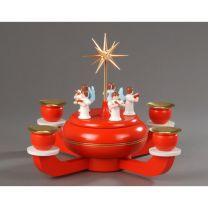 Weihnachtsleuchter mit Spieldose