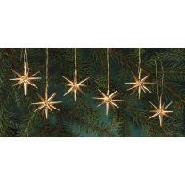 Christbaumschmuck, gold - kleine Weihnachtssterne, 6-teilig