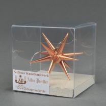 Christbaumschmuck - Weihnachtsstern, klein-kupfer
