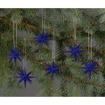 Christbaumschmuck - kleine Weihnachtssterne - dunkelblau