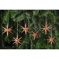 Christbaumschmuck, kupfer - kleine Weihnachtssterne, 6-teilig