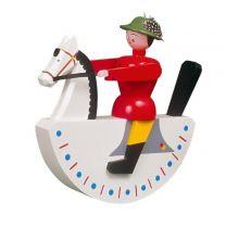 Seiffener Reiterlein - groß - rote Jacke
