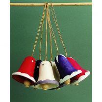 Behang - Glocken, groß - mehrfarbig weiß