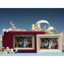 Miniatur im Rähmchen - Drehstube