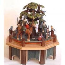 Spieldose - Jagdaufzug mit Eiche