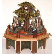 Spieldose - Jagdaufzug mit Kastanie