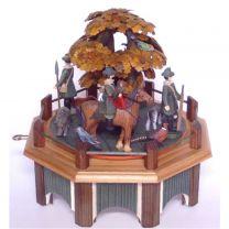 Spieldose - Jagdaufzug mit Eiche in Herbstfärbung