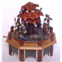 Spieldose - Jagdaufzug mit Roteiche in Herbstfärbung