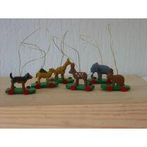 Reifentiere - 6 Wildtiere zum Hängen