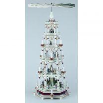 Pyramide, weiß/bordeaux - Christi Geburt