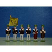 Seiffener Miniaturen - Bergaufzug - Hauptleute