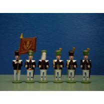 Seiffener Miniaturen - Dirigent, Fackelträger