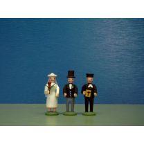 Seiffener Miniaturen - Brautpaar mit Pfarrer