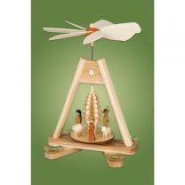 Tischpyramide mit Spanbaum - Christi Geburt