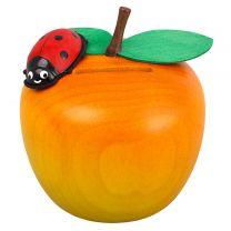 Spardose - Apfel mit Käfer