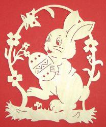 Fensterbilder - FB Hase mit Ei