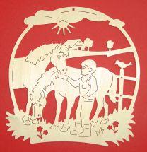Fensterbilder - FB Pferde mit Junge