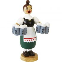 Räucherfrau - Helga mit Maßkrügen