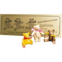 Spielzeugbär beweglich natur