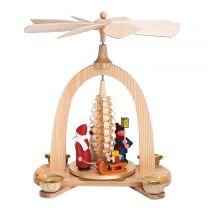 Pyramide - Weihnachtsmann, Winterkind, Schneemann
