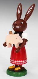 Häsin mit Glücksschwein