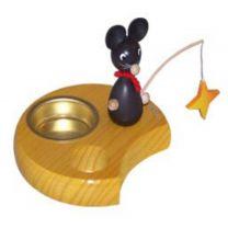 Teelichthalter - Maus mit Stern