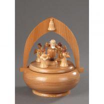 Spieldose, natur - Petrus mit 4 Engel -Süsser die Glocken-