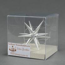 Christbaumschmuck - Weihnachtsstern, klein-silber