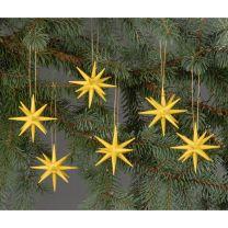 Christbaumschmuck - kleine Weihnachtssterne - gelb