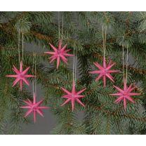 Christbaumschmuck - kleine Weihnachtssterne - pink