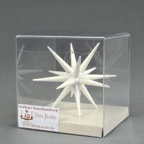 Christbaumschmuck - Weihnachtsstern, groß-weiß