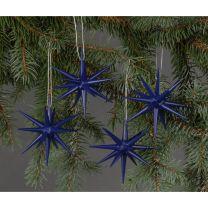 Christbaumschmuck - große Weihnachtssterne - dunkelblau