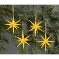 Christbaumschmuck - große Weihnachtssterne - gelb