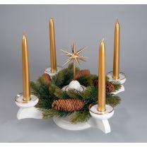 Adventsleuchter, weiß - Weihnachtsstern