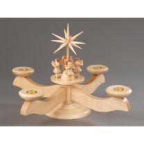 Adventsleuchter, natur - 4 stehende Engel