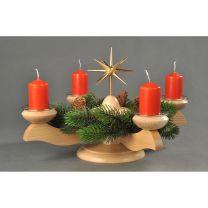 Adventsleuchter, natur - Weihnachtsstern