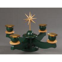 Adventsleuchter, grün - Weihnachtsstern