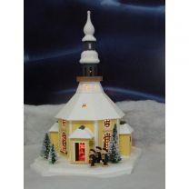 Erzgebirgisches Lichterhaus - Seiffener Kirche mit Kurrende