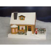 Erzgebirgisches Lichterhaus - Haus mit Weihnachtsstube