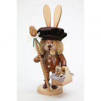 Räuchermann Wichtel Hase mit Eierkorb