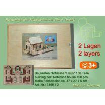Baukasten Noblesse - Haus - 2 Lagen = 150 Teile