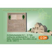 Architekturbaukasten Nr. 1 - 41 Teile