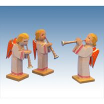 Engelgruppe mit langem Kleid 3 tlg.