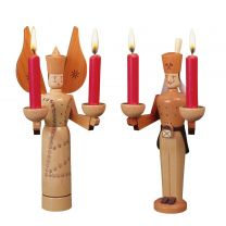 Lichterengel und Lichterbergmann - Engel mit getupftem Kleid