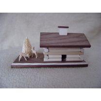 Räucherhaus - Blockhütte mit Rehe