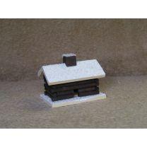 Räucherhaus - Blockhütte, klein, weiß