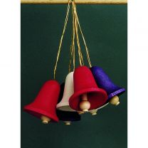 Behang - Glocken, groß-einfarbig