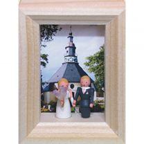 Miniatur im Rähmchen - Hochzeit in Seiffen