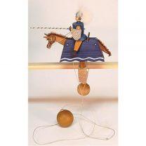 Pendelreiter - Ritter, blau mit Schild und Lanze