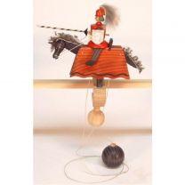 Pendelreiter - Ritter, rot mit Schild und Lanze